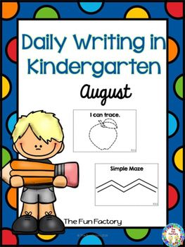 Free  If you go back to school in August, we have provided 4 weeks of pre-writing practice for your kindergarten students.  If you dont have school for 4 full weeks in August, pick and choose the weeks you want to use with your students.Week 1 practices pre-writing skills.