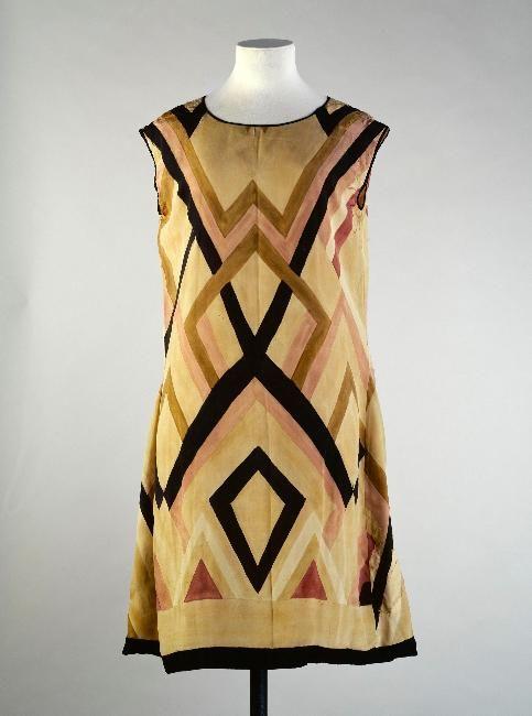Dress Sonia Delauney, 1928-1929 Musée Galliera de al Mode de la Ville de Paris