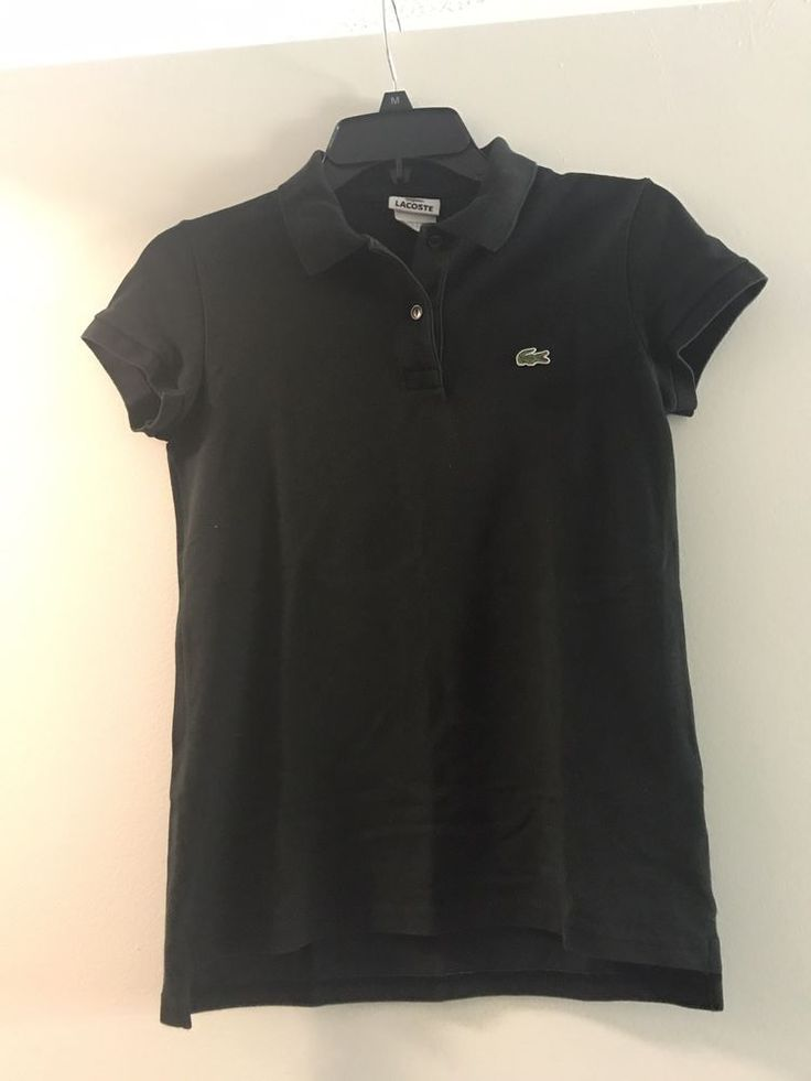 Lacoste Polo Shirt Navy Blue Women's Size Medium 38  | eBay