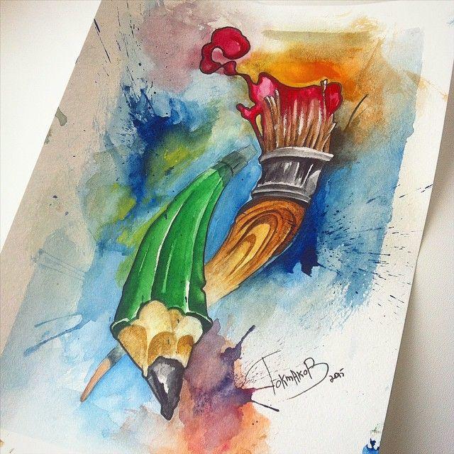 #watercolor #watercolortattoo #watercolorsketch watercolor tattoo sketch pen brush
