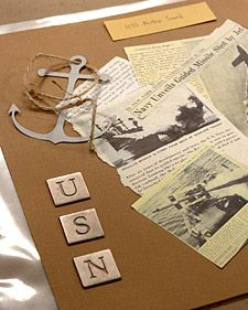 Preserve your family history and cherish your ancestors' traditions, moments, and memorabilia with our easy ideas.: Scrapbook Ideas, Preserves Families, Preserves Memorabilia, Newspaper Clip, Easy Ideas, Dog Tags, Families History, Martha Stewart, Scrapbook Pages