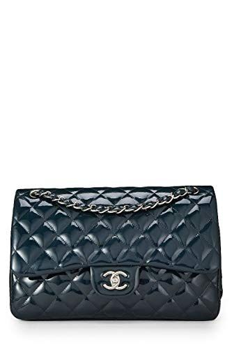 f60b916d423d SALE PRICE -  5250 - CHANEL Navy Quilted Patent Leather Classic Double Flap  Jumbo (Pre