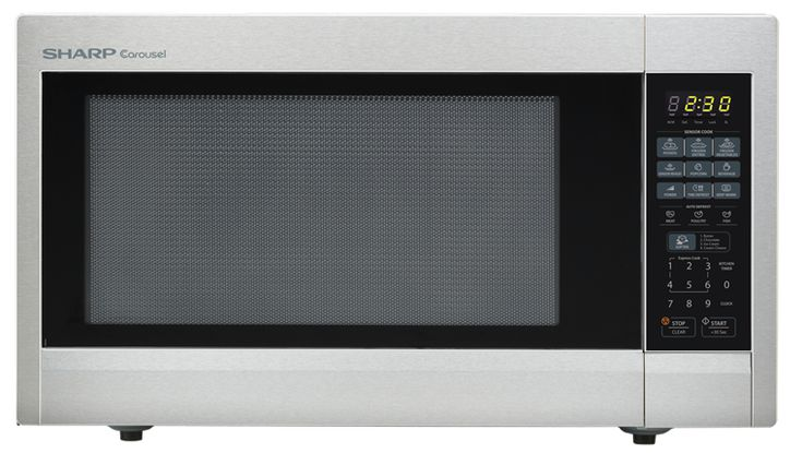 SHARP CAROUSEL COUNTERTOP MICROWAVE OVEN 2.2 CU. FT. 1200W STAINLESS STEEL  R-651ZS