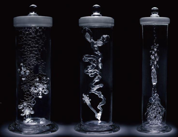Glass sculpture - Mika Aoki singing glass