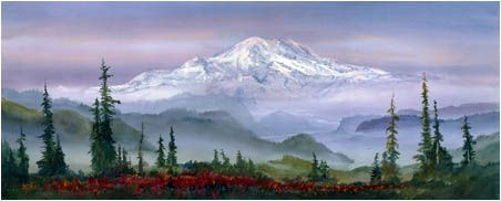 "John Ebner - Giclees, ""Mount Rainier"""
