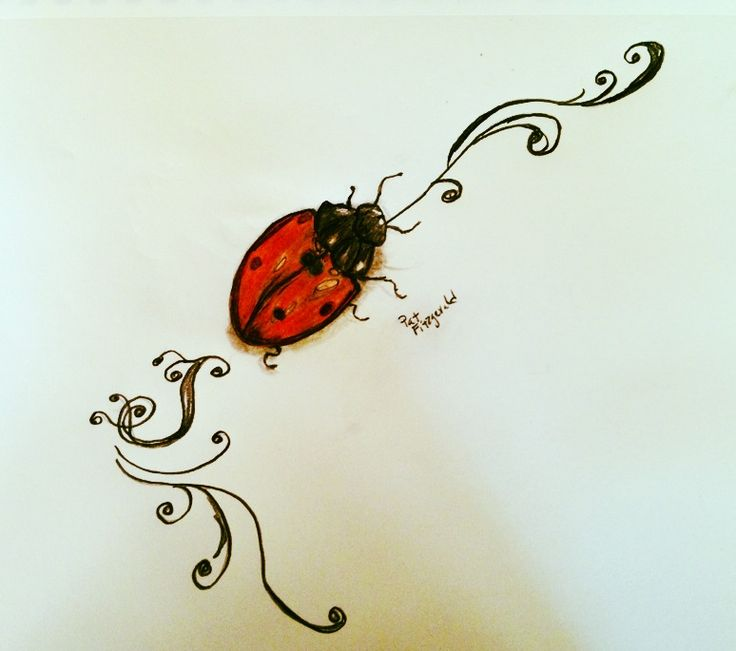 Ladybug Tattoo- good luck wherever you go :)
