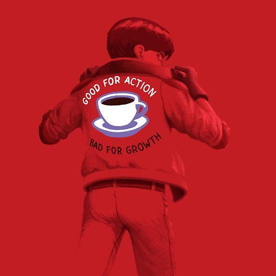 """Stronger than pills"", coffee based design inspired by Otomo's ""Akira""."