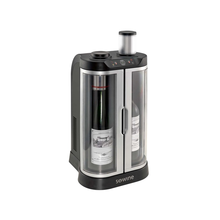 The exclusive Sowine system offers: - Two separate compartments to store two bottles at the ideal serving temperature - Simple and user-friendly temperature management.
