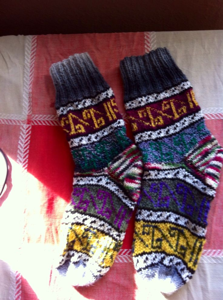 Socks made of ledt over yarn. :)