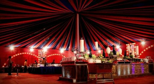 Red and blue #weddingdecor #maypole #beautifulwedding #indianweddings    Celebells Events Pick a date. Leave the rest on us. www.celebells.com