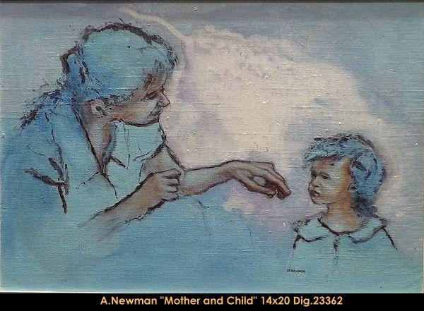 Original acrylic painting on canevas by artist Andy Newman. #newman #art #canadianartist #quebecartist #originalpainting #fineart #figurativeart #acrylicpainting #artist #mother #child # multiartltee #balcondart