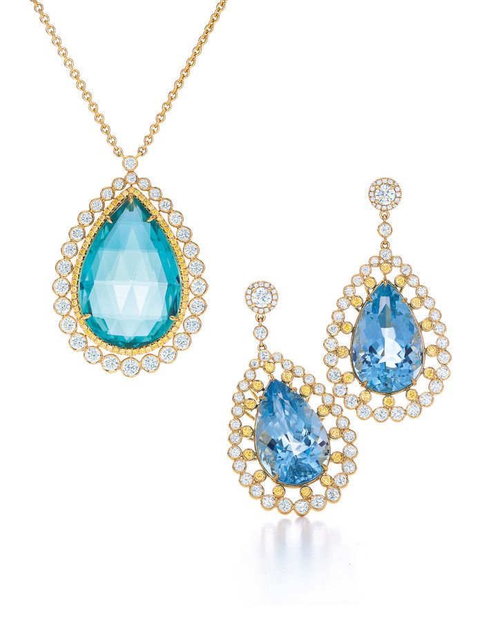 Tiffany & Co. pendant and earrings