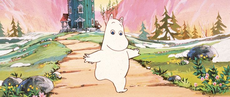 """slimehater: """"WATCH MOOMIN (1990) ONLINE NOW the Moomin series by Tove Jansson got a wonderful Japanese-European TV show with a charming English dub that was unfortunately never aired in the USA. a peaceful and visually beautiful show, it deals with..."""