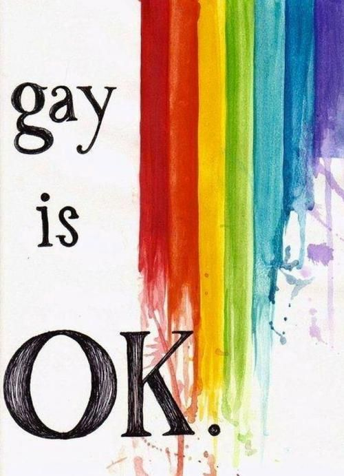 "it's actually ridiculus that we have to say that. nobody should question that. wouldn't it be better to say ""gay is normal"" than ""gay is ok"" because there's no need to think it wouldn't be ok  #queer #lgbt"