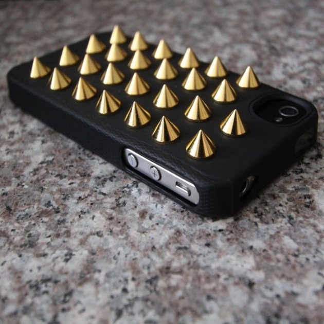 Black & Gold Studded iPhone Case by Felony Case