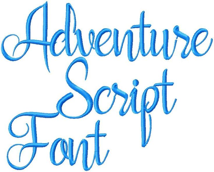 Adventure Font - Machine Embroidery Font