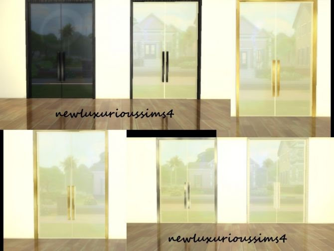DOUBLE GLASS DOORS at NEW Luxurious Sims 4