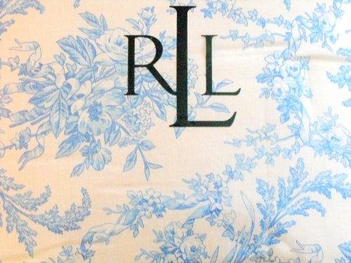 ($199.00) Ralph Lauren 4PC Floral Blue Toile Queen Comforter Set Standard Pillow Sham BedskirtFrom Ralph Lauren