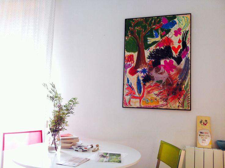 Interiors, #paint by Leo e Dario, modern art - #chalks drawing