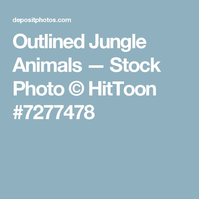 Outlined Jungle Animals — Stock Photo © HitToon #7277478