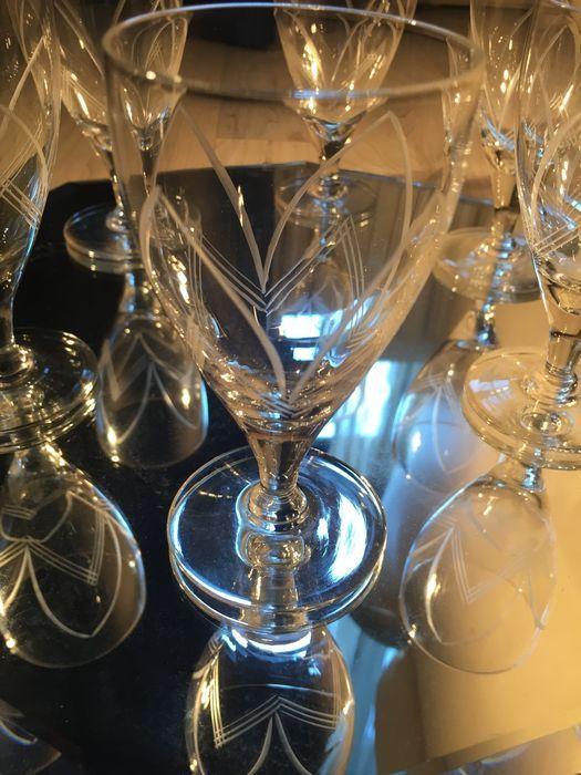 6 hand geëtst crystal goblet & wijn deconter  Handgemaakte wijnglas WaterglaskunstWijn karaf: 30 cm/8 cmGlas: 11 cm/5 cmVoorwaarde: uitstekendWordt per aangetekend schrijven toegestuurd  EUR 1.00  Meer informatie