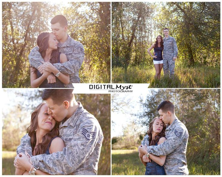 John & Shae enjoy a lifestyle photography session with DigitalMyst Photography of Tampa Bay Florida.  Military couple photography posing.  US Army photography ideas.  Military photo ideas.  Military couple ideas.  Couple portrait ideas.  Couple posing for young love.  Engagement photography ideas.  Field posing ideas for photographers.  Photography in a field.  Field session photos.  For more inspiration please visit www.Facebook.com/DigitalMystPhotography