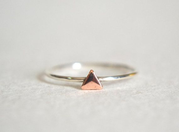 Sterling Silver Ring Silver Stacking Ring Delicate by Fondeur