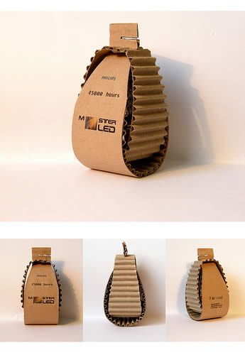 Interesting packaging idea.  Good way of cutting down amount of materials. Corrugation adds protection.