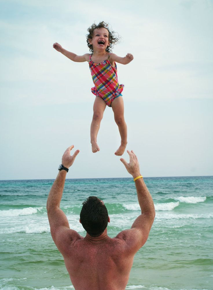 sheer happiness, i love doing this to my little sister, although she might not get as much big airrrrrr. oh love. i remember my father doing this to me too.