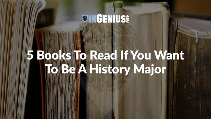 What to Read: 5 Books for History Majors History is a different animal in college than it is in most high schools. Even in a lot of advanced History courses in high school, the major focus will be on historical events, people, and dates rather than identifiable trends and different points-of-view