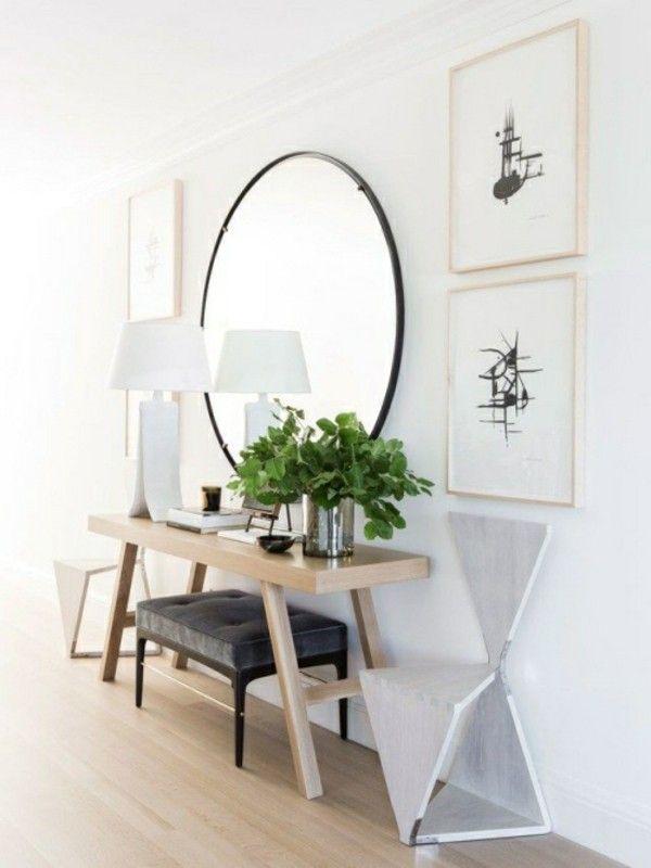 toller runder spigel schminktische modern #Design #dekor #dekoration