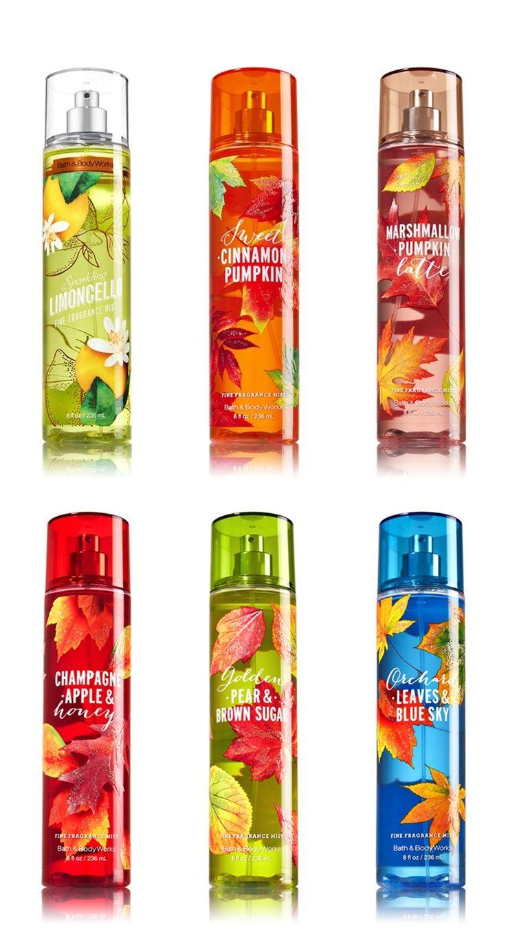 Bath and Body Works Fall 2016 Fragrances