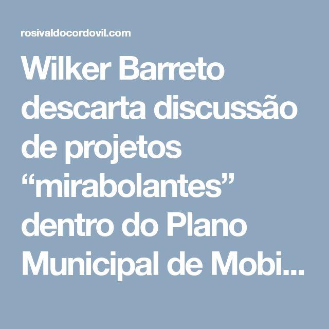 """Wilker Barreto descarta discussão de projetos """"mirabolantes"""" dentro do Plano Municipal de Mobilidade Urbana > Vereador Rosivaldo Cordovil"""