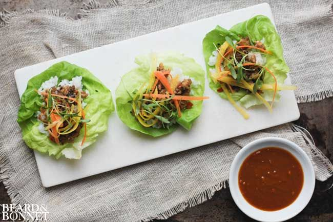 Hoisin Veggie-Tofu Lettuce Cups Recipe — Dishmaps