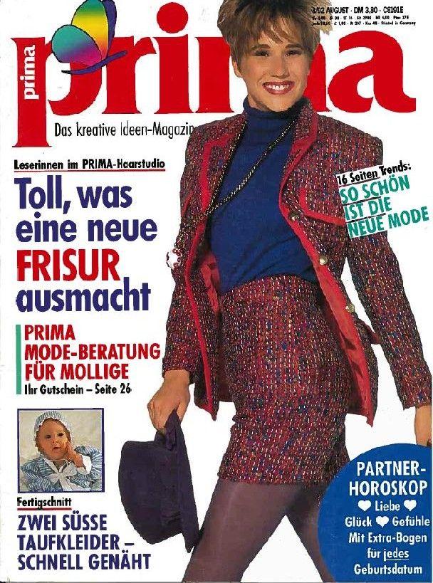 Prima 8/92 | German Retro Vintage Sewing Patterns ( Magazines for ...