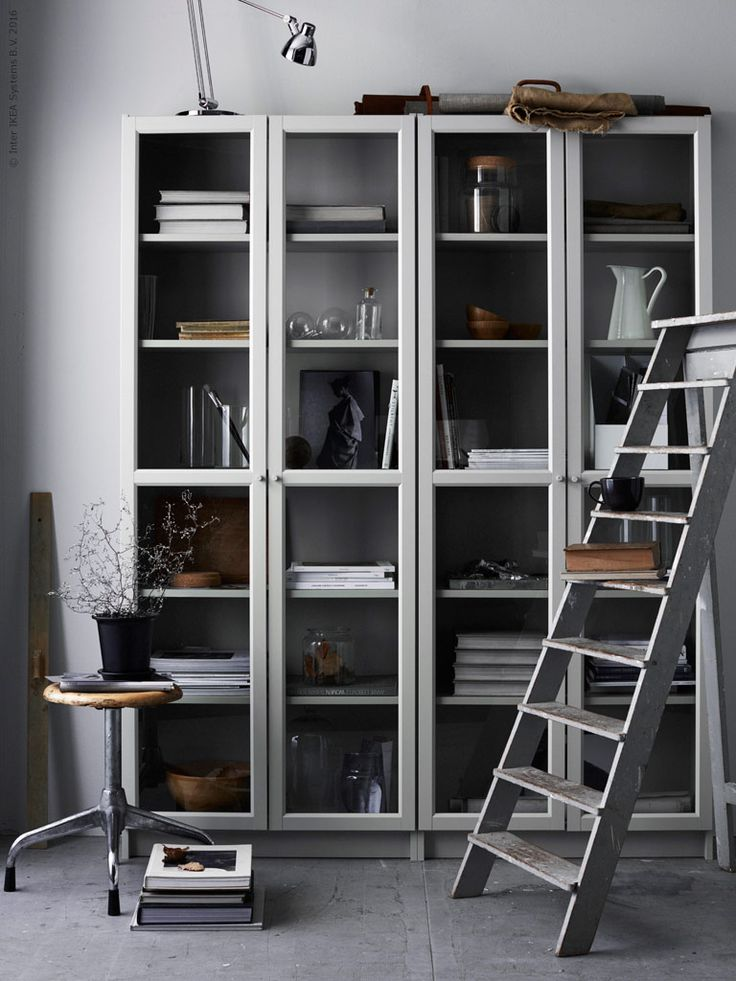 The elegance of a grey bookcase Daily