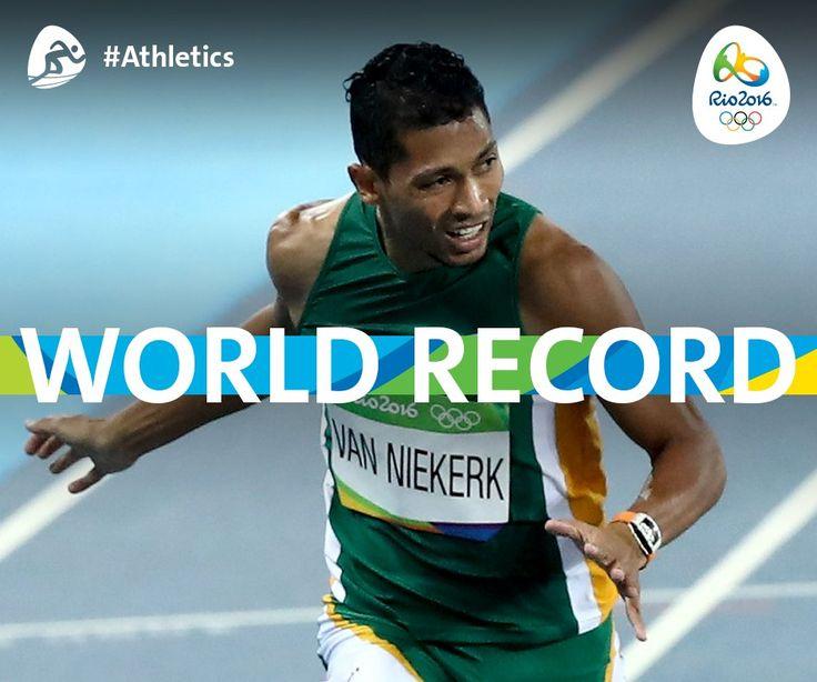 Wayde van Niekerk #RSA sets world record in men's 400m! #Athletics