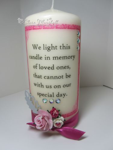 "Ebay £8.50 Wedding Memorial Candle, ""We light this candle in memory of loved ones..."" 