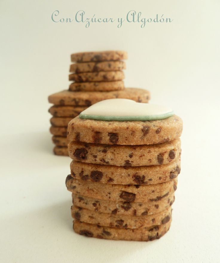 Galletas con chips de chocolate, para decorar