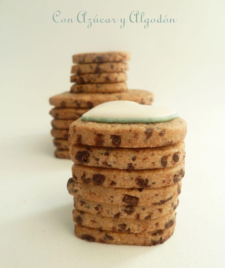 Galletas con chips de chocolate, para decorar