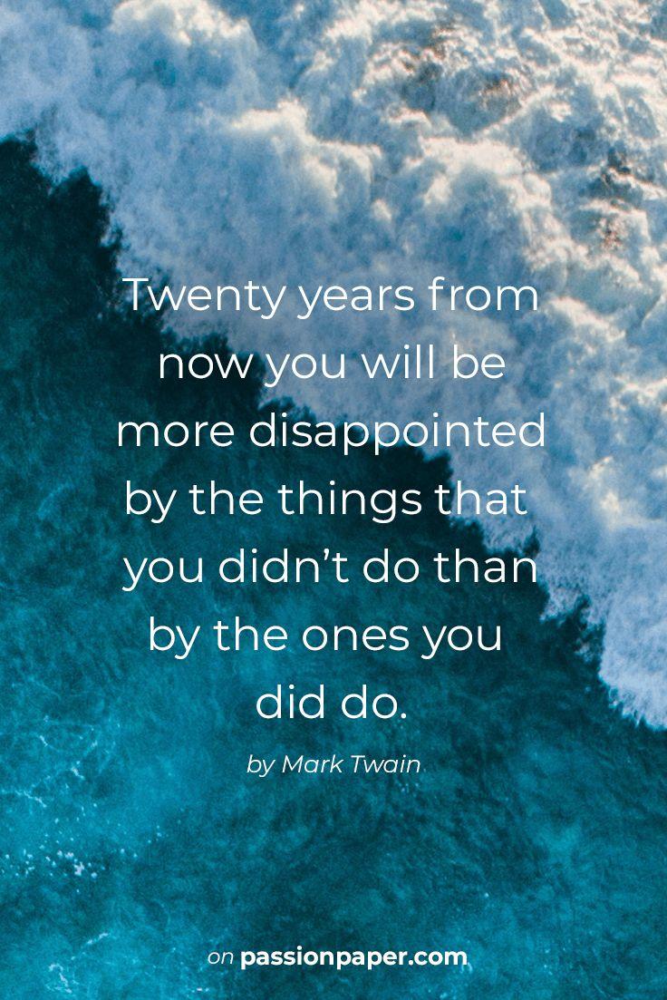 Twenty years from now …