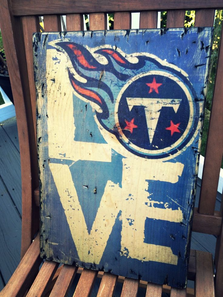 Typography-LOVE Tennessee Titans- wooden sign-rustic-South-football by Perfectlypicky on Etsy https://www.etsy.com/listing/246384330/typography-love-tennessee-titans-wooden