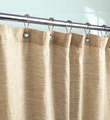 Organic Linen Shower Curtain   Gaiam With Rust Proof Grommets