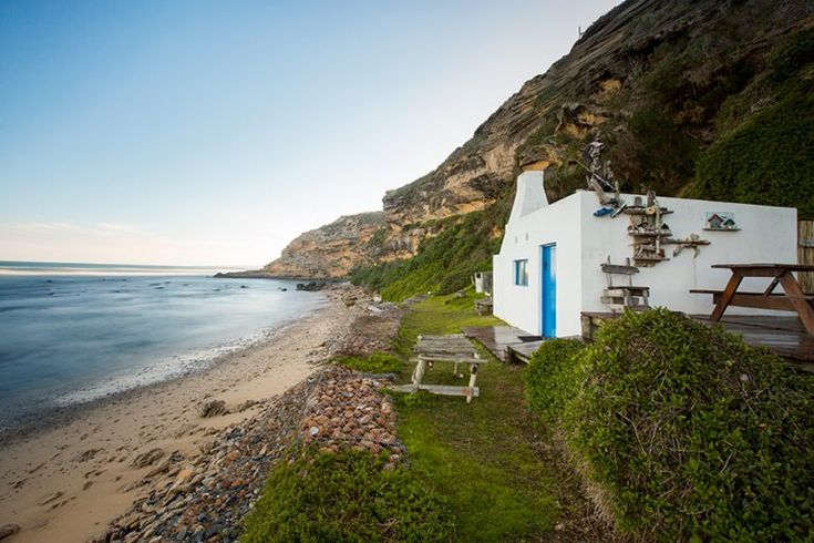 Okay, so this place is sort-of like a beach shack. It won't win any design awards- it's a functional space- but the location is breathtaking. You have to walk down a steep mountain to get to this spot, and your reward is an entire section of coastline all to yourself.