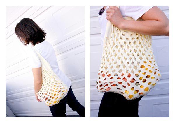Recyclage : un sac à fruits et légumes à partir dun t shirt