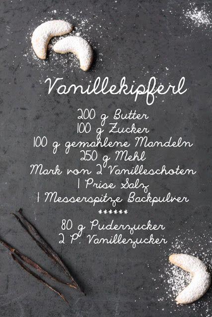 leckeres und gelingsicheres Rezept  für Vanillekipferl / Vanillehörnchen