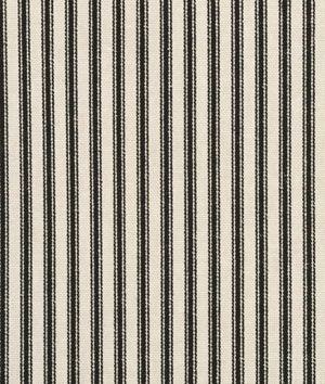 For Julie Waverly Timeless Ticking - Black / Cream Fabric - $12.95 | onlinefabricstore.net