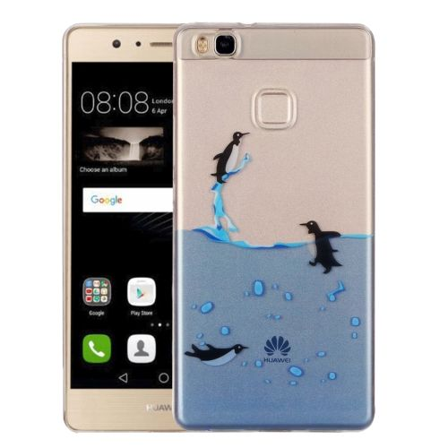 [$0.95] Huawei P9 Lite Lovely Penguins Pattern IMD Workmanship Soft TPU…