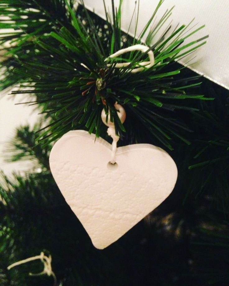 DIY christmas decoration ornament white hearth