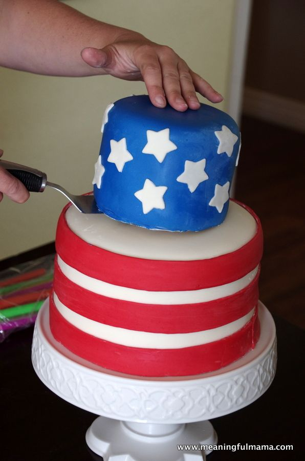 american flag cake two tier - Google Search